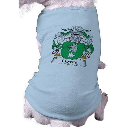 Escudo de la familia de Lloves Ropa De Mascota