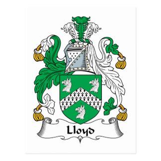 Escudo de la familia de Lloyd Tarjeta Postal