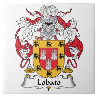 Escudo de la familia de Lobato Azulejo Cuadrado Grande