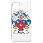Escudo de la familia de Lobia iPhone 5 Case-Mate Fundas