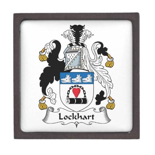 Escudo de la familia de Lockhart Cajas De Regalo De Calidad