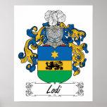 Escudo de la familia de Lodi Poster