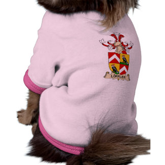 Escudo de la familia de Löffler Camiseta De Perrito