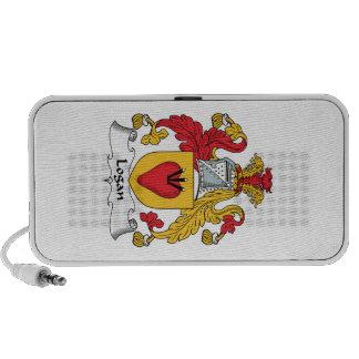 Escudo de la familia de Logan iPod Altavoces