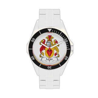 Escudo de la familia de Logan Relojes De Pulsera