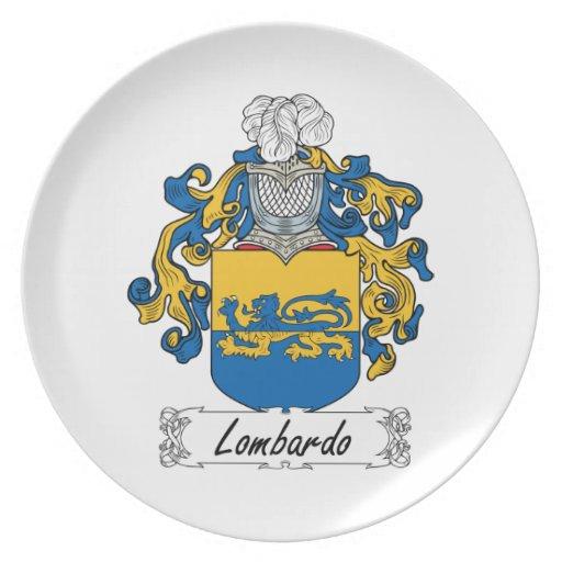 Escudo de la familia de Lombardo Plato De Cena