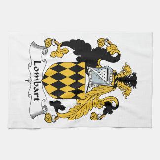 Escudo de la familia de Lombart Toalla De Cocina