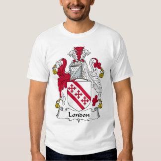 Escudo de la familia de Londres Remeras