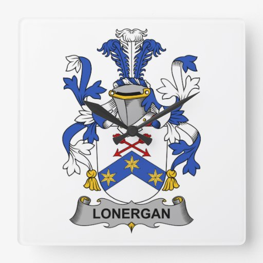 Escudo de la familia de Lonergan Relojes De Pared