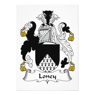 Escudo de la familia de Loney Anuncios