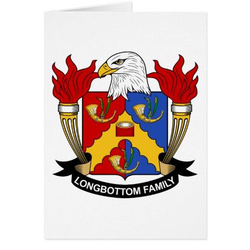 Escudo de la familia de Longbottom Tarjeta De Felicitación