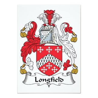 Escudo de la familia de Longfield Invitación 12,7 X 17,8 Cm
