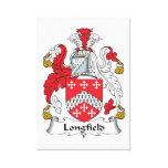 Escudo de la familia de Longfield Impresiones De Lienzo