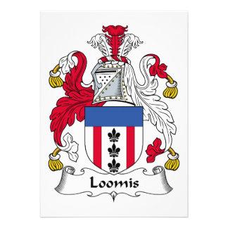 Escudo de la familia de Loomis Invitaciones Personales