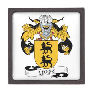Escudo de la familia de López Caja De Joyas De Calidad