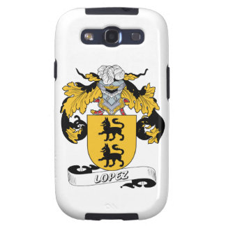 Escudo de la familia de López Galaxy S3 Protectores