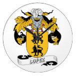 Escudo de la familia de López Relojes De Pared