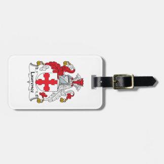 Escudo de la familia de Lorenza Etiquetas Maletas