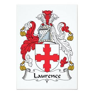 """Escudo de la familia de Lorenza Invitación 5"""" X 7"""""""