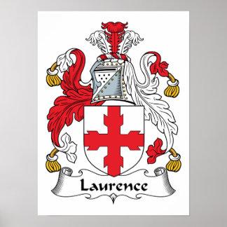 Escudo de la familia de Lorenza Póster