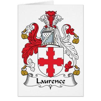 Escudo de la familia de Lorenza Tarjeta De Felicitación