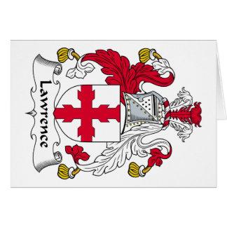 Escudo de la familia de Lorenzo Tarjeta De Felicitación