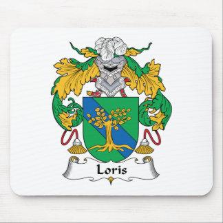 Escudo de la familia de Loris Alfombrillas De Ratón