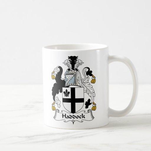 Escudo de la familia de los abadejos taza de café