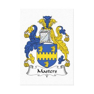 Escudo de la familia de los amos lienzo envuelto para galerias