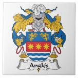 Escudo de la familia de los ángulos azulejos ceramicos