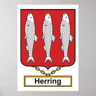 Escudo de la familia de los arenques póster