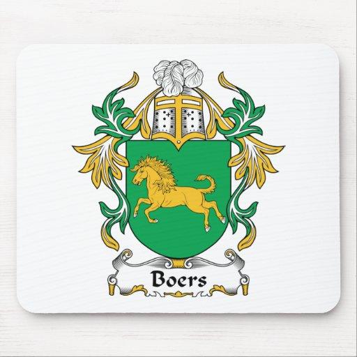 Escudo de la familia de los Boers Alfombrilla De Raton