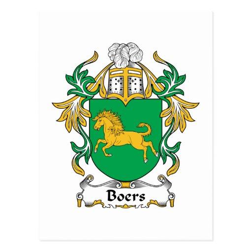 Escudo de la familia de los Boers Tarjetas Postales