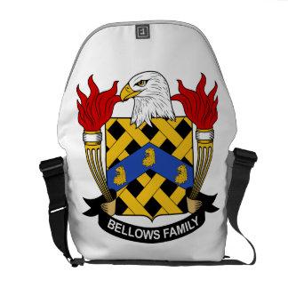 Escudo de la familia de los bramidos bolsas de mensajería