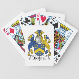Escudo de la familia de los caballos de labor baraja cartas de poker