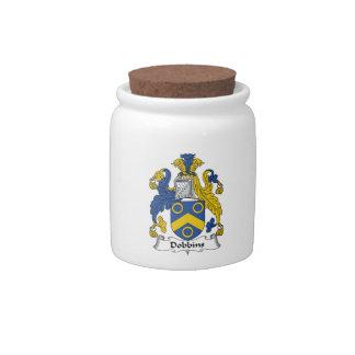 Escudo de la familia de los caballos de labor jarras para caramelos