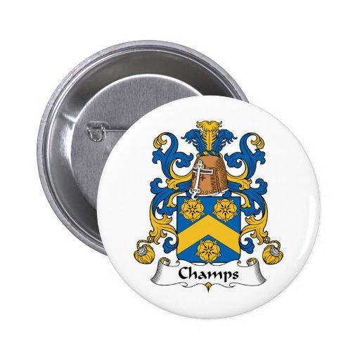 Escudo de la familia de los campeones pin redondo de 2 pulgadas