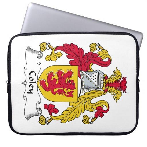 Escudo de la familia de los Coley Fundas Ordendadores