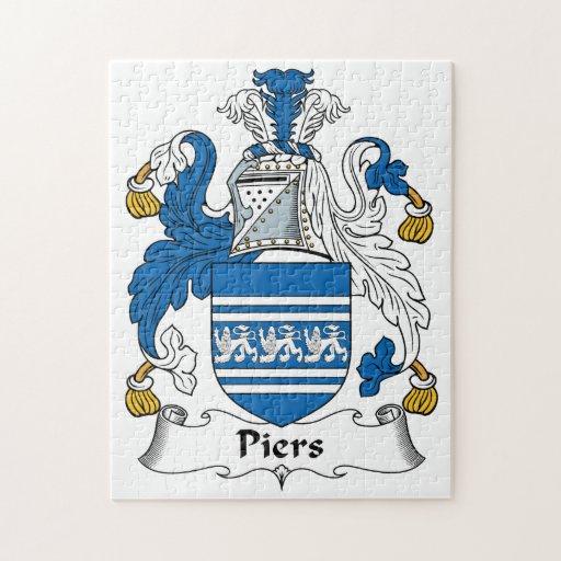 Escudo de la familia de los embarcaderos puzzle con fotos
