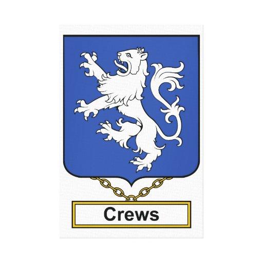 Escudo de la familia de los equipos lienzo envuelto para galerias