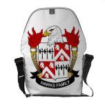 Escudo de la familia de los halcones bolsas messenger