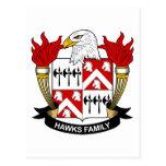 Escudo de la familia de los halcones postal