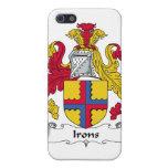 Escudo de la familia de los hierros iPhone 5 protectores