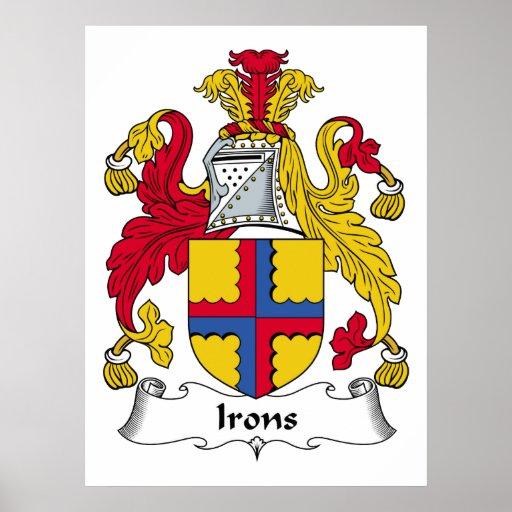 Escudo de la familia de los hierros impresiones