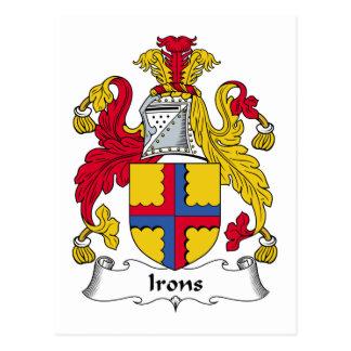 Escudo de la familia de los hierros tarjeta postal