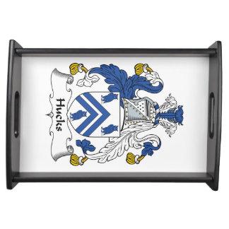 Escudo de la familia de los Hucks Bandejas