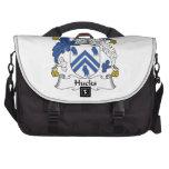 Escudo de la familia de los Hucks Bolsas Para Ordenador