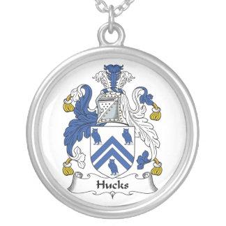 Escudo de la familia de los Hucks Colgante Redondo