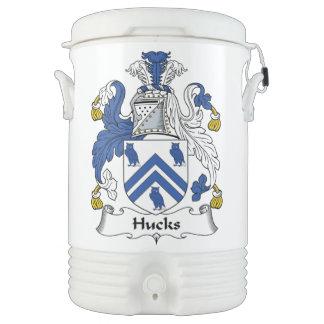 Escudo de la familia de los Hucks Enfriador De Bebida Igloo