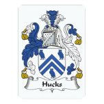 Escudo de la familia de los Hucks Invitación 12,7 X 17,8 Cm